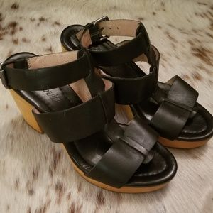 Madewell Irving wooden heel sandals